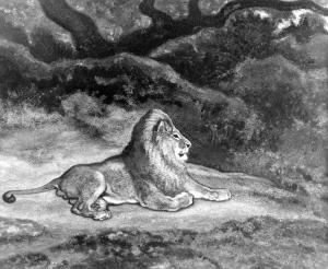 Antoine-Louis_Barye_-_Lion_at_Rest_-_Walters_37816
