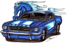 horseandcar by lowrider-girl
