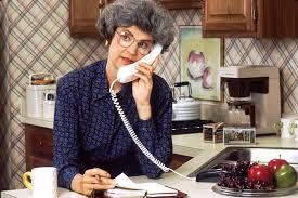 mom on phone by Bill Branson