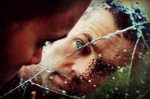 man in broken mirror Jim Jackson